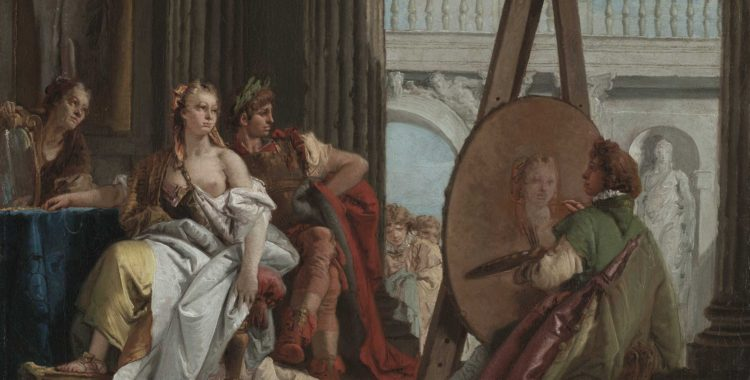 Alexander the Great and Campaspe in the studio of Apelles - ArtsandEcon.com